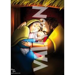 Balconera San Jose y María mimando al Niño
