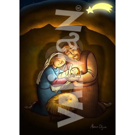 Balconera María pasa el niño a San José