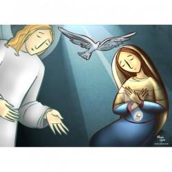 Balconera La Anunciación con Ángel san Gabriel